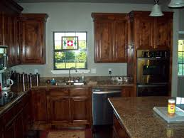 Kitchen Cabinets Staining by Stained Hickory Interior Job