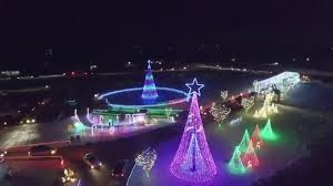 celebrate the light willmar christmas lights aerial drone