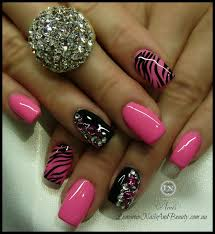 20 pretty nail designs for this new season zebra nails pink