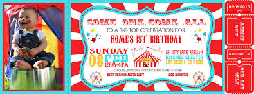 custom circus invitations carnival birthday party invitations u2013 frenchkitten net