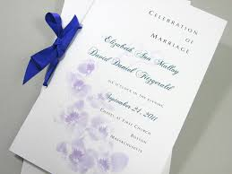 wedding program cover wedding program booklet in floral summer ceremony