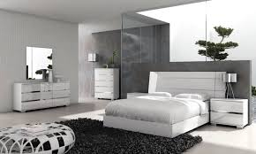 modern white bedroom interior design