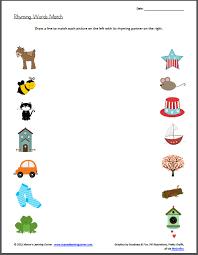 rhyming words match worksheet rhyming words worksheets and words