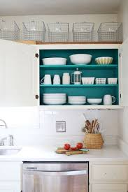 kitchen interesting two tone kitchen cabinets with turquoise