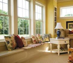 tips ideas elegant wooden pella windows plus blinds for home white single hung pella windows matched with yellow wall plus sofa and cushions ideas