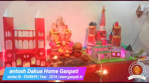 Home Ganpati Decoration Santosh Dakua Home Ganpati Decoration Video U0026 Ideas Www Ganpati