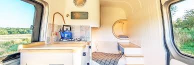 amazing camper van maximizes space with clever boat design tricks