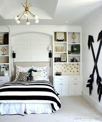 bedroom furniture white plaid frame glass window cute bedroom