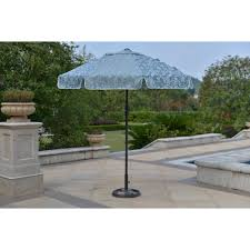 Big Umbrella For Patio by Mainstays Willow Springs 7 U0027 Garden Umbrella Blue Walmart Com