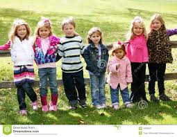 diverse group of little kids outside stock photos image 16596963