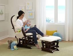 amazon com beige bowback glider rocker chair with ottoman beige