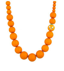 orange bead necklace images Disney beaded necklace orange bird 21 quot jpg