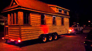 tumbleweed tiny house arriving at night youtube