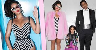 beyonce shows off amazing figure as barbie with jay z and blue