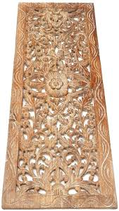 carved wood wall decor trendy carved wood wall decor panel floral