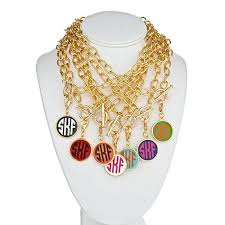 custom charm necklace gold monogram charm necklace nl 3mm gold custom