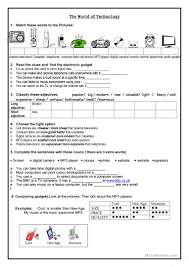 Adjectives That Compare Worksheets The World Of Technology Worksheet Free Esl Printable Worksheets
