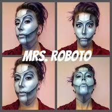 halloween makeup special fx makeup robot metal face painting