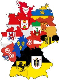 Map Of States With Capitals by Flag Map Of German State Capitals X Post From R Mapporn