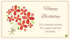 greeting card for sick person happy birthday and get well soon wishes