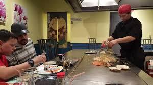 japanese restaurant cook at table teppanyaki table sushi garden picture of sushi garden japanese