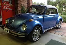 blue volkswagen beetle 1970 1978 champagne edition ii all the vw beetle special editions