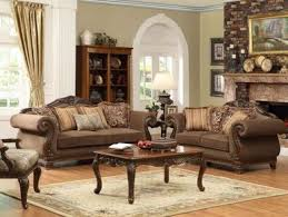 traditional sofas with wood trim odessa traditional brown wood trim chenille sofa couch loveseat
