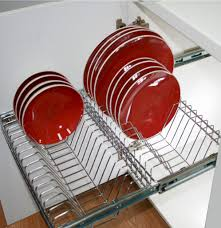 Kitchen Cabinet Plate Rack Storage Pull Out Plate Racks In Kitchen Storage Tansel Stainless Steel