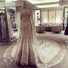 wedding dress with bling 2017 bling bling mermaid wedding dresses sweep pearls