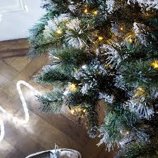 pre lit frosted christmas trees christmas lights decoration