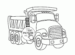 truck coloring page for kids transportation coloring pages