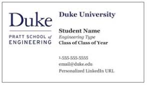 student business card business cards for pratt students engineering student government