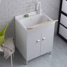 lavello resina mobile lavanderia 60x50 cm con lavandino in resina profondo