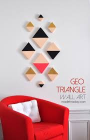 Modern Wall Art Modern Triangle Geo Wall Art Foam Cutter Geometric Wall Art And