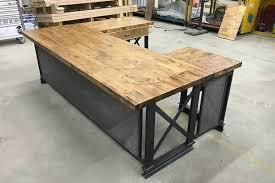 Modern Rustic Desk Office Desk Wooden Office Chair Modern Industrial Office Desk