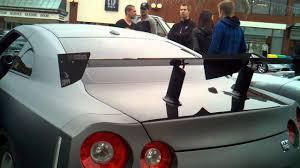 nissan gtr with spoiler nissan gtr r35 custom rear spoiler youtube