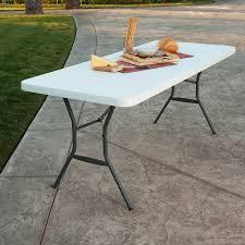 Lifetime Folding Chairs Lifetime 6 U0027 Fold In Half Table White Granite Walmart Com