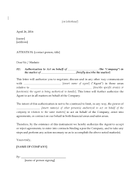 Sample Letter Of Intent For Business Transaction by Letter Authorizing Agent To Negotiate Legal Forms And Business