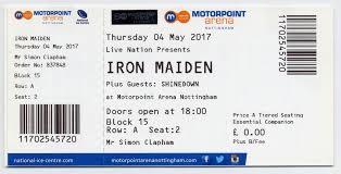 Sheffield Arena Floor Plan Iron Maiden Shinedown Nottingham Motorpoint Arena 4 5 17 U2013 Gig