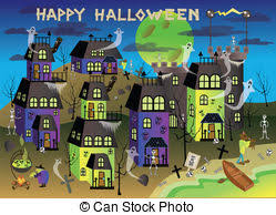 spooky town spooky town illustrations and clipart 313 spooky town royalty