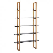 5 Shelves Bookcase Loki Black 5 Shelf Bookcase Buy Now At Habitat Uk