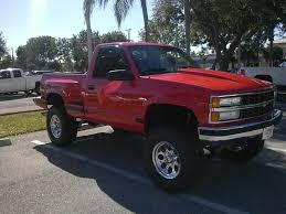 Red Lifted Chevy Silverado Truck - 1990 chevrolet silverado 1500 news reviews msrp ratings with