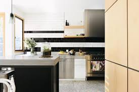 black and white backsplash houzz