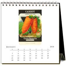 seed packets seed packets 2018 easel calendar 9781680813227 calendars