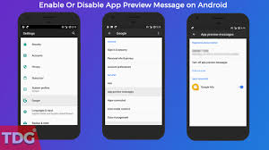 message android how to enable or disable app preview message on android the