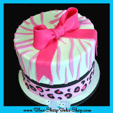 pink animal print baby shower cupcake tower blue sheep bake shop