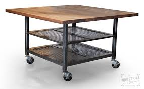 metal kitchen island tables crafted custom walnut steel kitchen island metal kitchen