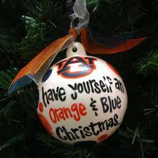 ornament orange and blue auburn bookstore