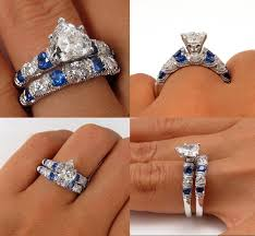 2 14ct shaped and sapphire estate vintage