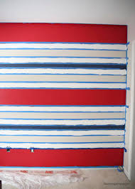 Striped Bedroom Wall by Painting Stripes On A Wall Janefargo Horizontal Striped Bedroom